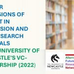 CALL FOR EXPRESSIONS OF INTEREST IN SUPERVISION AND PH.D. RESEARCH PROPOSALS – THE UNIVERSITY OF NEWCASTLE'S VC-SCHOLARSHIP (2022)